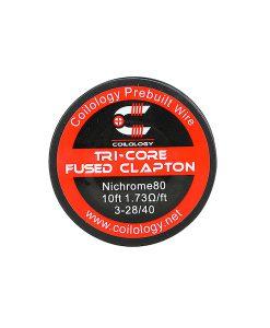 Tri-core Fused Clapton Wire 10ft Ni80 1.73ohm Coilology